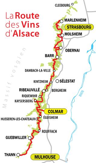 VTC route des vins d'Alsace